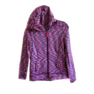 Athleta Girls space dye full zip hoodie Large/12